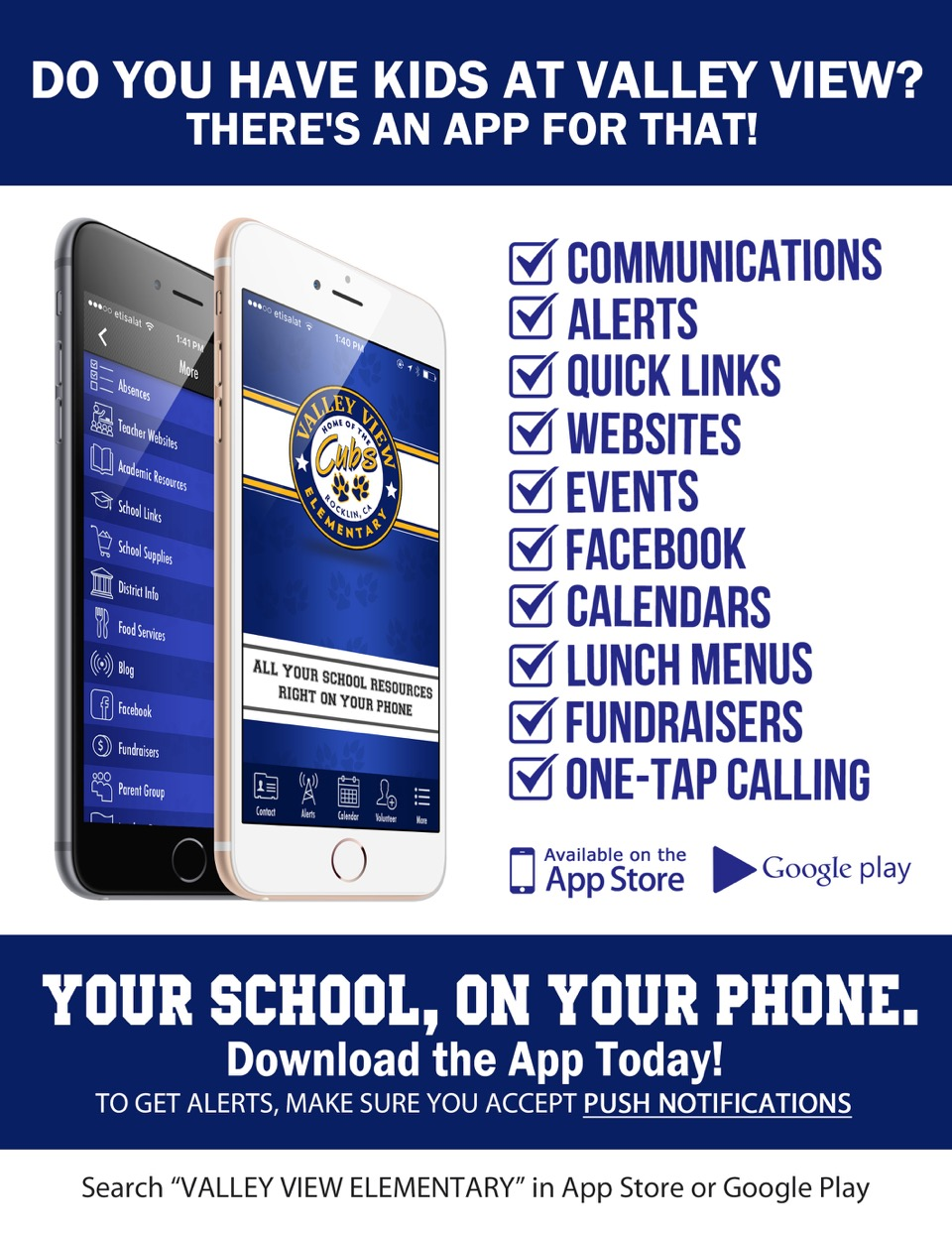 Download the Valley View App – Valley View Parent Teacher Club