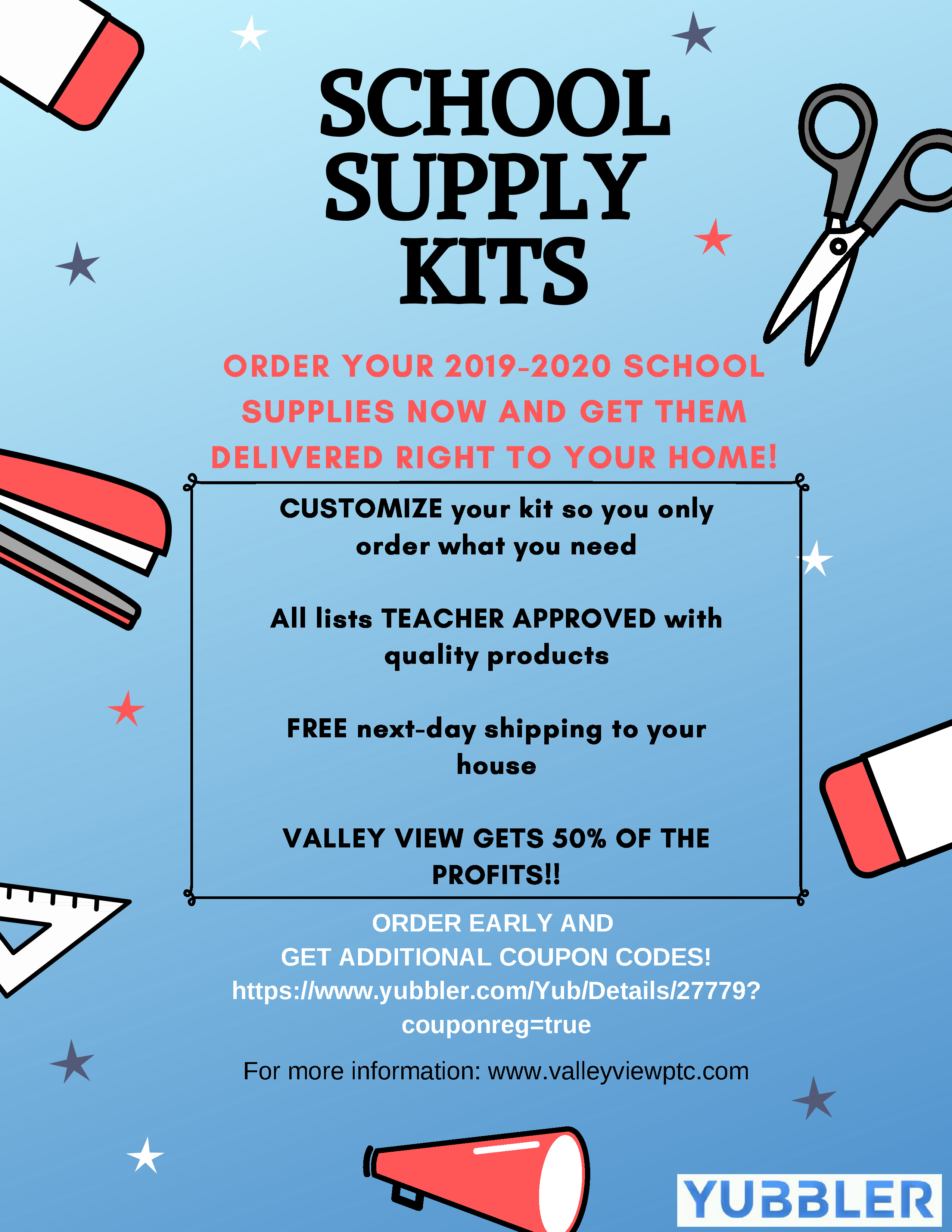 Get Your School Supplies for 2019-2020! – Valley View Parent